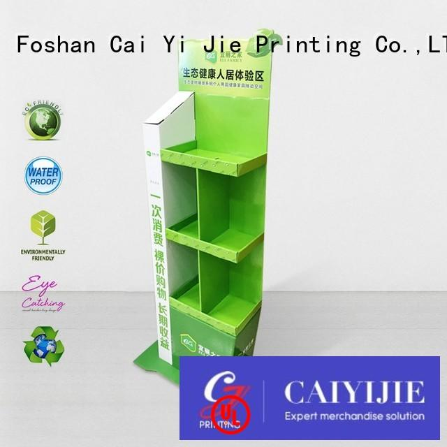 stiand stairglossy large printing CAI YI JIE Brand cardboard stand supplier