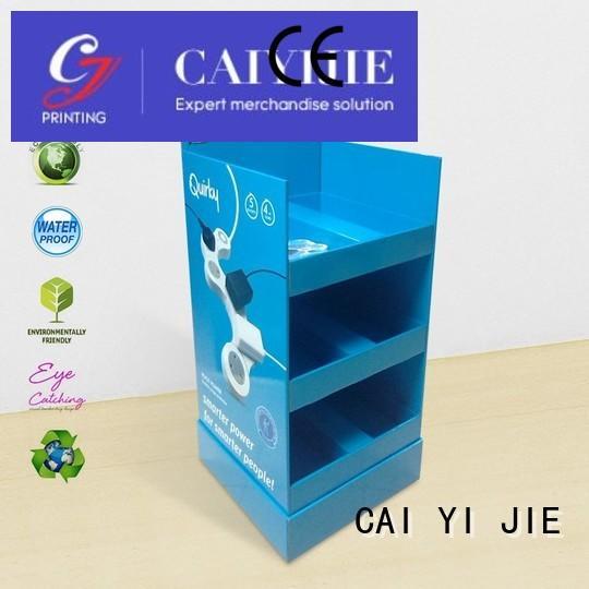 CAI YI JIE stainless tube cardboard display printing for supermarket