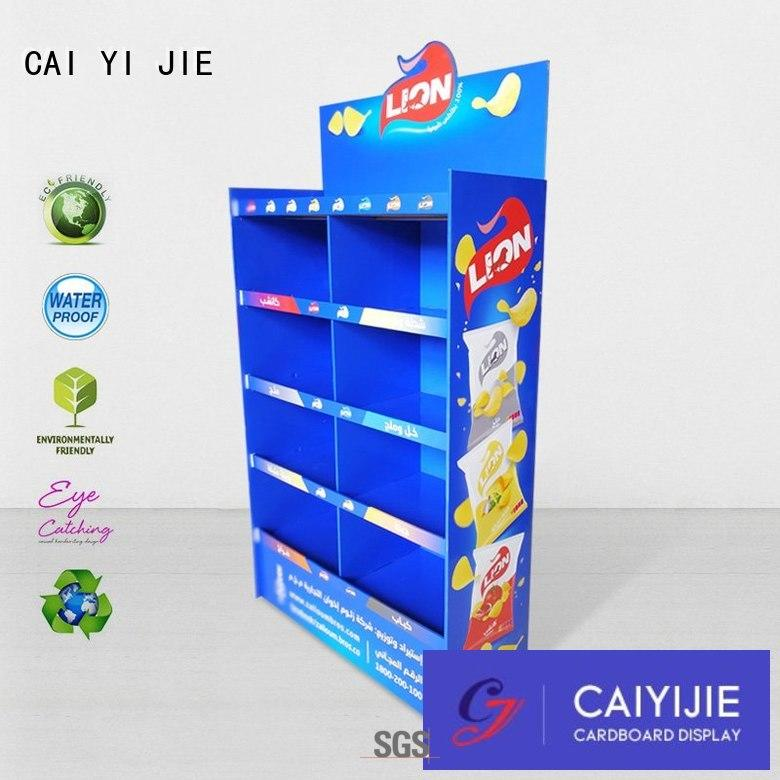Factory price for stand cardboard display from  CAI YI JIE