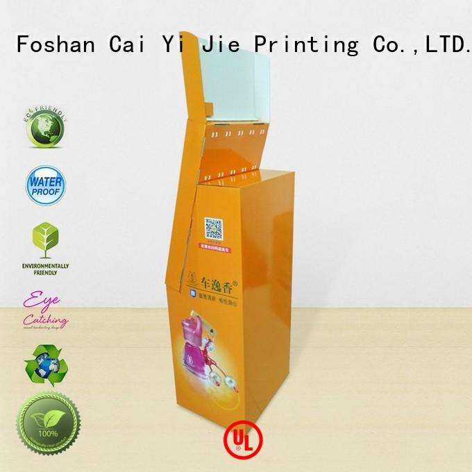 CAI YI JIE printing cardboard magazine stand hook stands for perfume