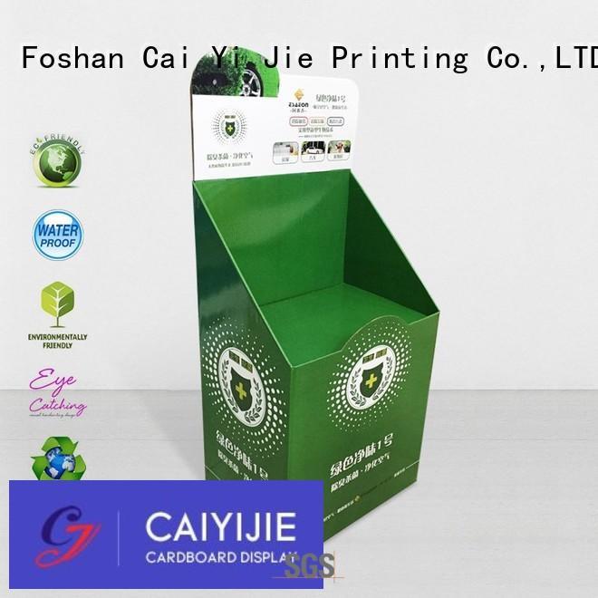 display cardboard card display stand demo for cosmetics CAI YI JIE