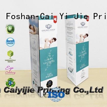 CAI YI JIE fancy cardboard packaging for yogurt display