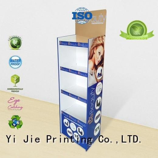 CAI YI JIE Brand floor stairglossy cardboard greeting card display stand stands