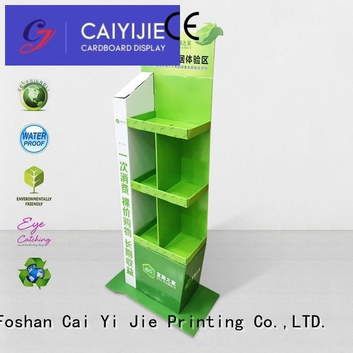 cardboard greeting card display stand color stainless retail CAI YI JIE Brand company