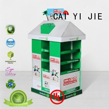 advertising cardboard pallet boxes with lids woolworths for chain store CAI YI JIE