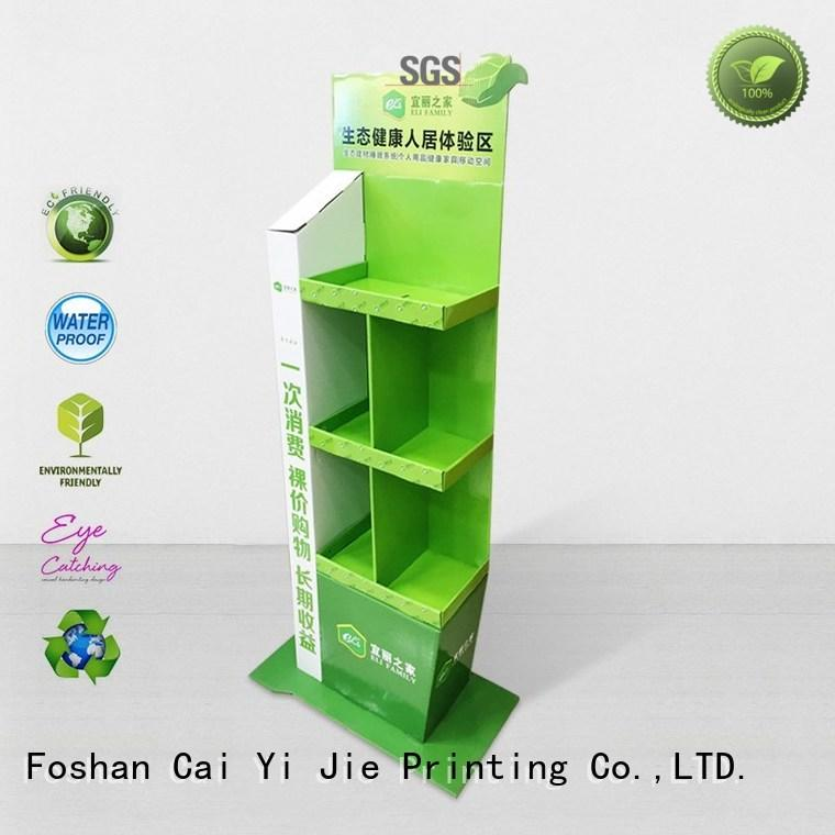 large cardboard counter display stands point for electronic lights for grids