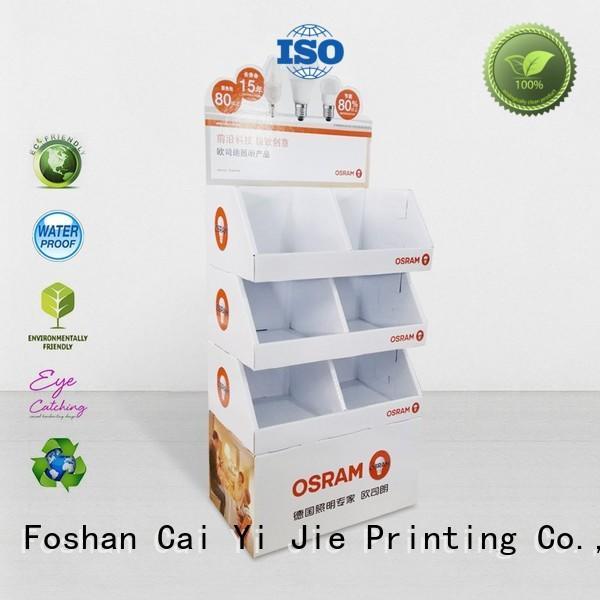 cardboard display shelves cardboard for promotion CAI YI JIE