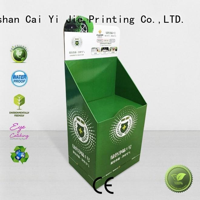 CAI YI JIE corrugated cardboard book display stand for led light