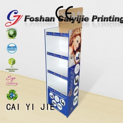 CAI YI JIE large free standing cardboard displays