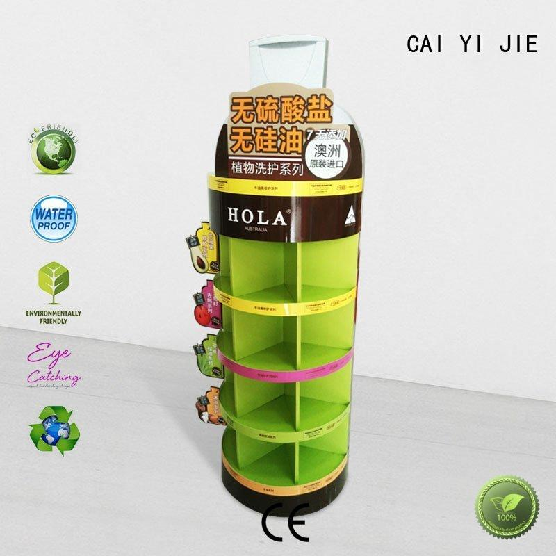CAI YI JIE Brand sale stiand cardboard greeting card display stand