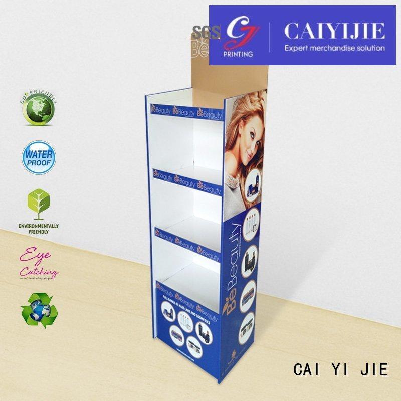 retai cardboard display shelves lamp forbottle CAI YI JIE