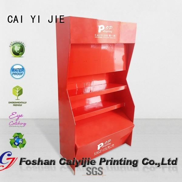 tube printed pop CAI YI JIE Brand cardboard stand supplier