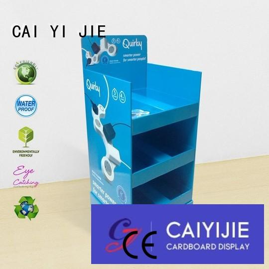 CAI YI JIE Brand point cardboard greeting card display stand stand supplier
