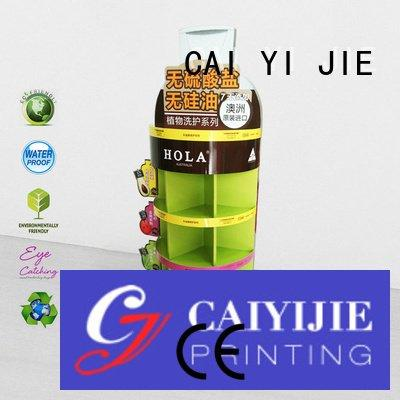 cardboard greeting card display stand stands product corrugated sale CAI YI JIE