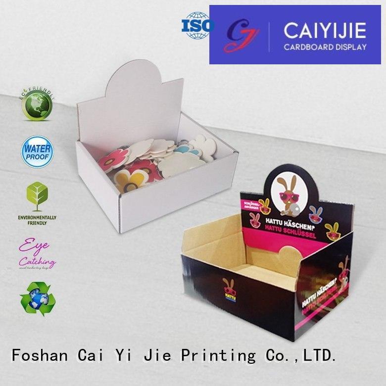CAI YI JIE Brand boxes chain custom cardboard counter displays product