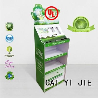 CAI YI JIE stainless tube point of sale display products for led light