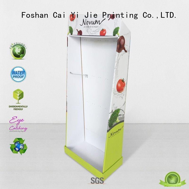 stand retail cardboard stand CAI YI JIE Brand