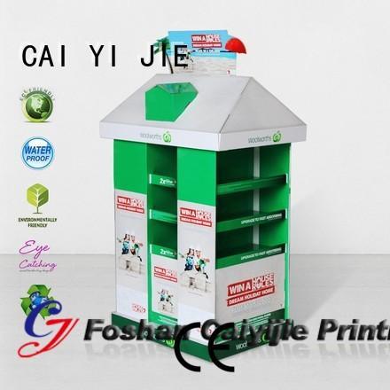 racks easy cardboard pallet display CAI YI JIE Brand