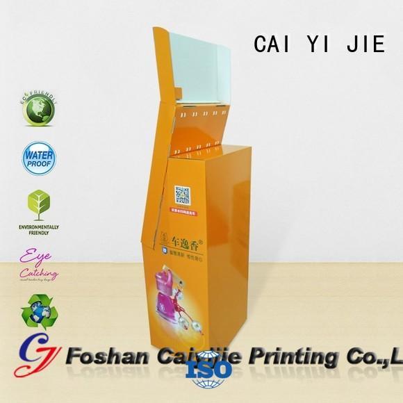 CAI YI JIE free standing display units cardboard cardboard display for perfume