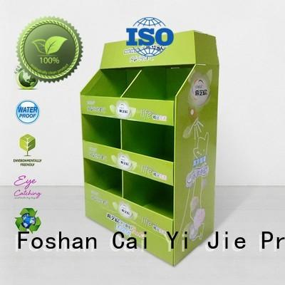 clip cardboard pallet display for stores CAI YI JIE