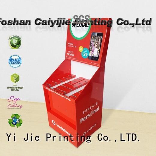 CAI YI JIE cardboard business card display holders cardboard display for perfume