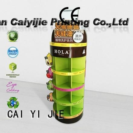 glossy cardboard floor display forbottle