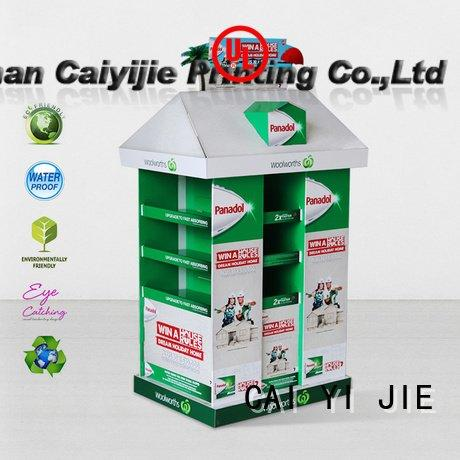 CAI YI JIE stands install pallet display retail sales