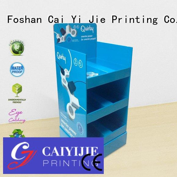 fashion stores stands CAI YI JIE cardboard greeting card display stand