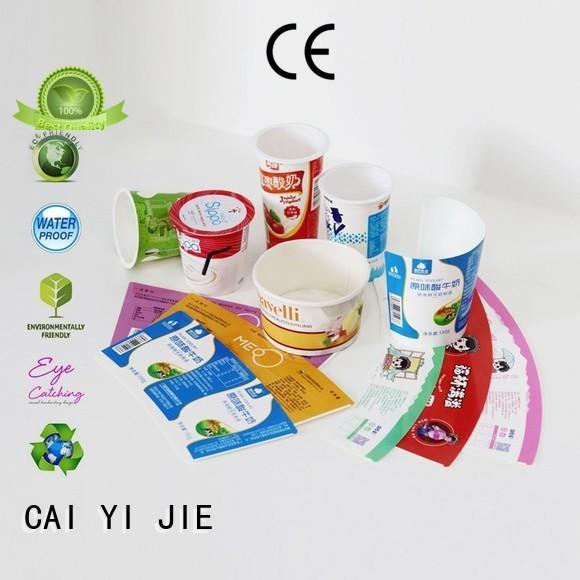 CAI YI JIE high-quality cardboard box manufacturers wheel for milk display