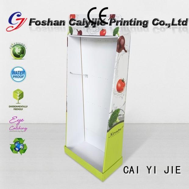 retai floor cardboard stand stores CAI YI JIE Brand