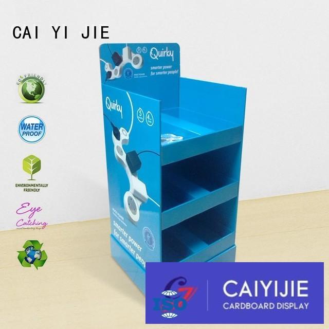 plastic stairglossy CAI YI JIE Brand cardboard stand