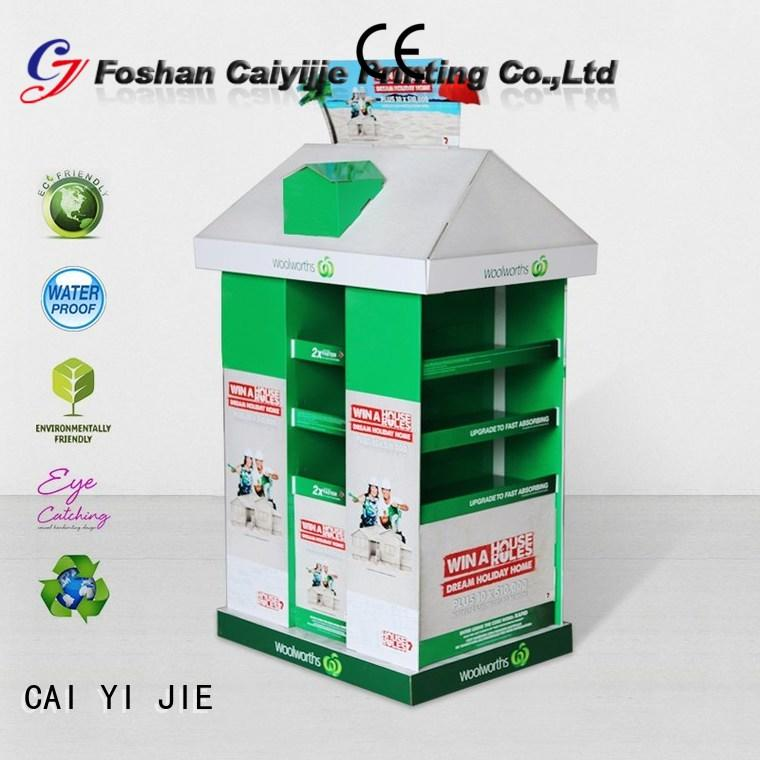 CAI YI JIE corrugated pallet display paper stand for stores