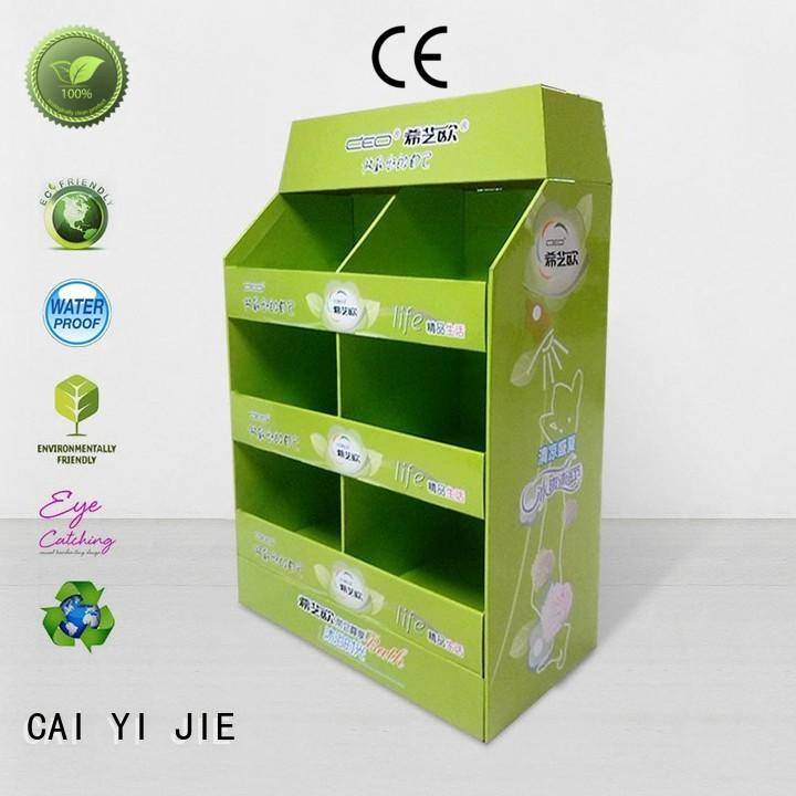CAI YI JIE marketing cardboard pallet display woolworths for stores
