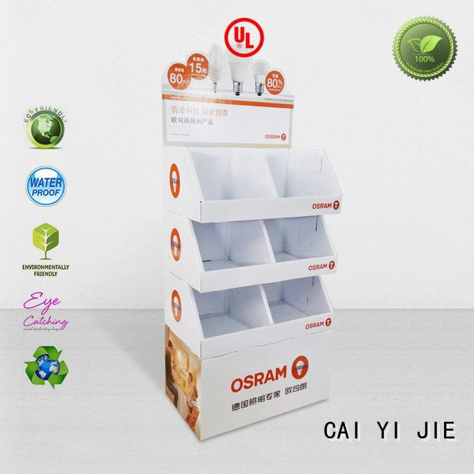 Custom cardboard stand retail super pop CAI YI JIE