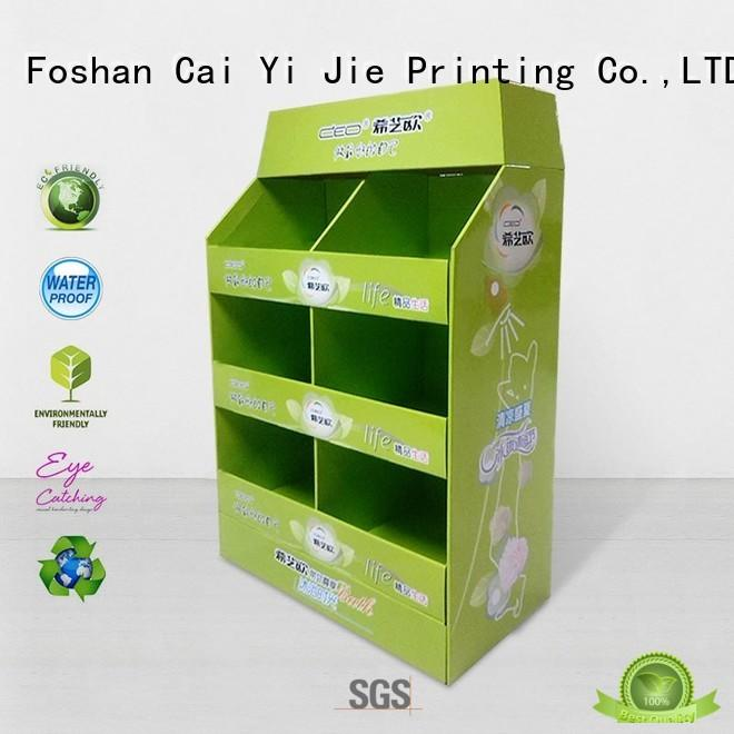 CAI YI JIE Brand stands cardboard pallet display square supplier