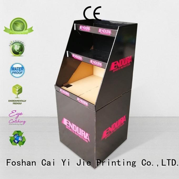 cardboard dump bins for retail easy standing CAI YI JIE Brand dumpbin