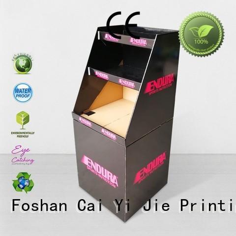 daily cardboard dump bins header for retail product CAI YI JIE