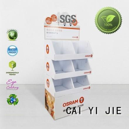CAI YI JIE floor point of sale display lion for milk