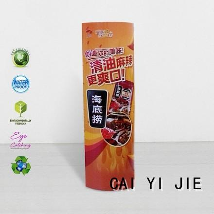 universal totem standee durable for promotion CAI YI JIE