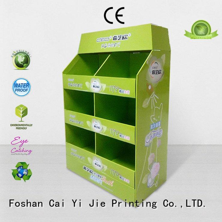 Wholesale stores clip pallet display CAI YI JIE Brand