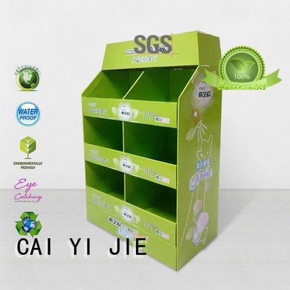 CAI YI JIE pos promoting pallet display sales corrugated