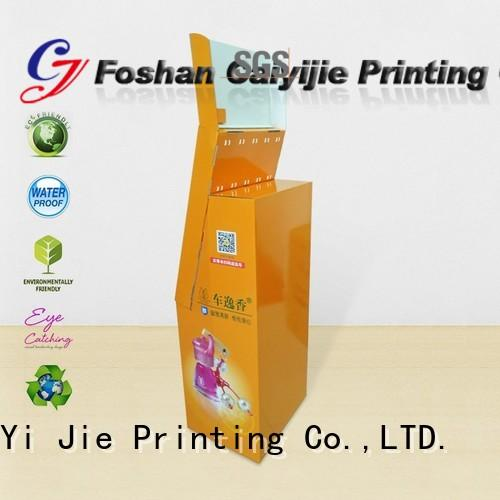 CAI YI JIE printing cardboard business card display holders hook stands for supermarket