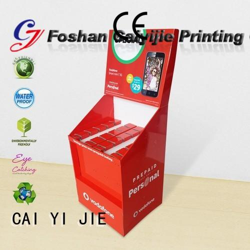 printing hook display stand cardboard display for phone accessories