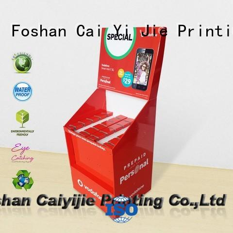 CAI YI JIE ODM free standing display units cardboard factory for phone accessories