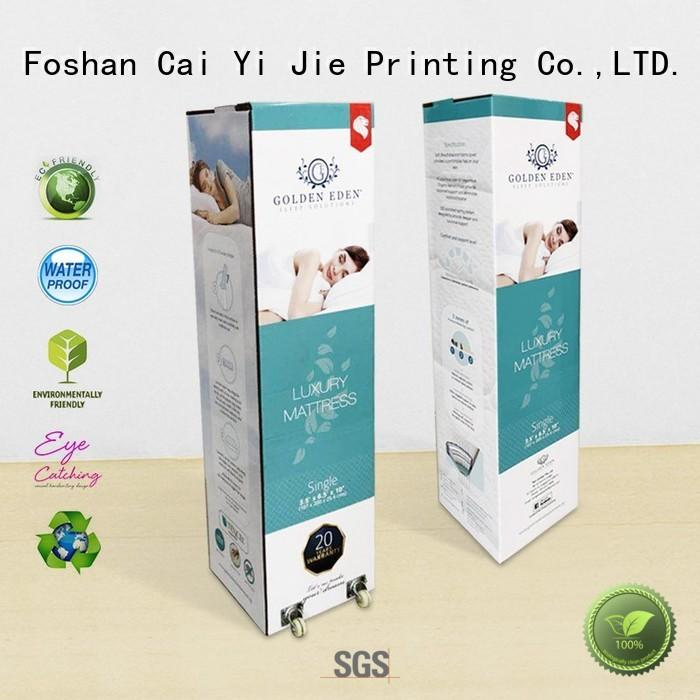 universal custom printed cardboard boxes for cup display CAI YI JIE