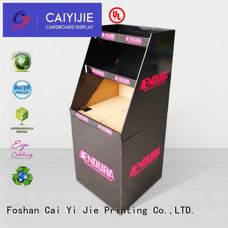 CAI YI JIE Brand easy color cardboard dump bins for retail