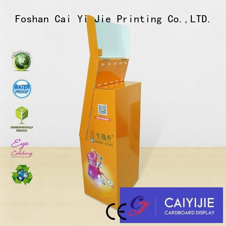 custom cardboard display stand singapore manufacturer for phone accessories CAI YI JIE
