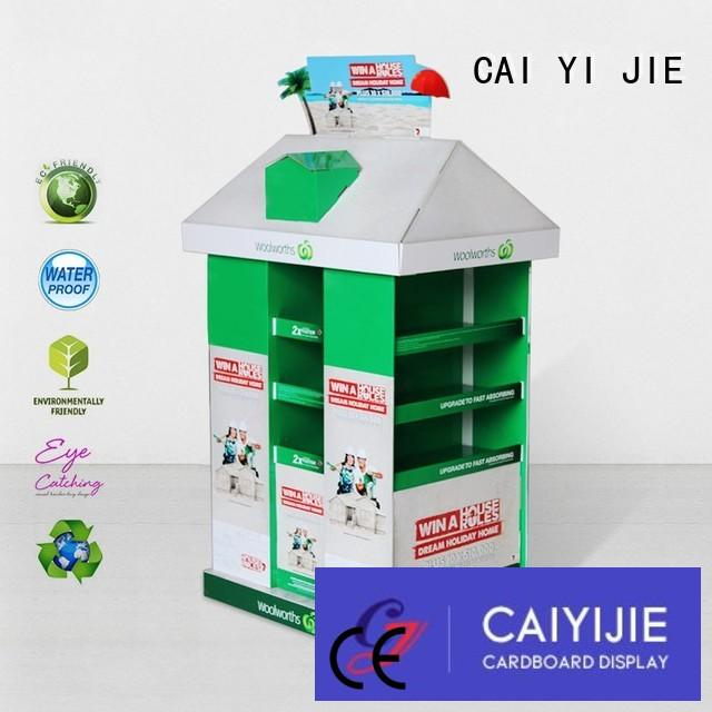 CAI YI JIE carton pallet display racks for chain store