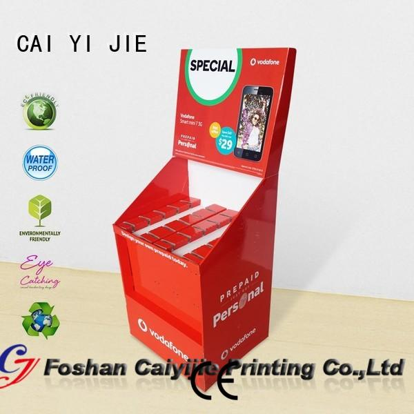 Mobile Phone Accessories Paper Shelves Display Stand