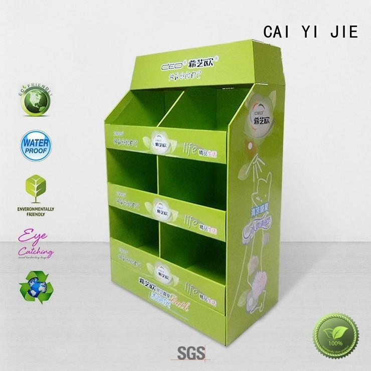 cardboard merchandising displays paper stand for chain store CAI YI JIE